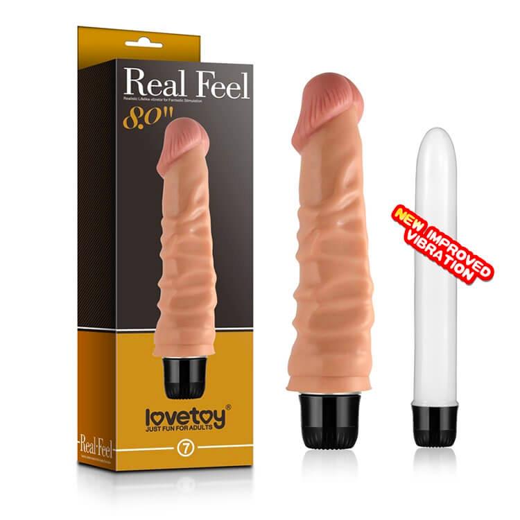 Đồ chơi tình dục nữ dương vật giả Lovetoy siêu gân RealFeel