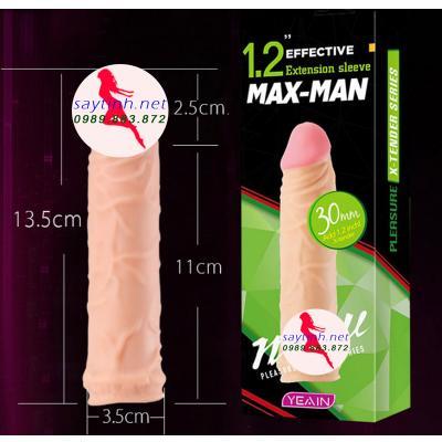 Bao cao su đôn dên Maxman 3 phân cỡ vừa
