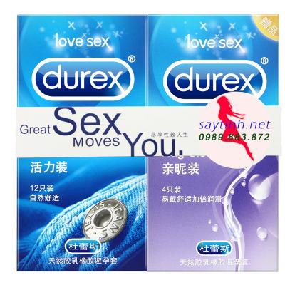 Bao cao su Durex jeans hộp 12 cái