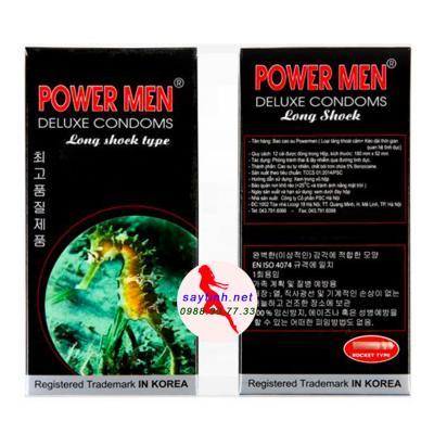 Bao Cao Su Powermen Cá Ngựa (Hộp 12 Cái)