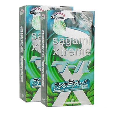 Bao cao su Sagami Xtreme Spearmint Bạc Hà Siêu Mát Lạnh