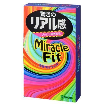 Bao Cao Su Siêu Mỏng Ôm Sát Sagami Miracle Fit Hộp 10 Chiếc