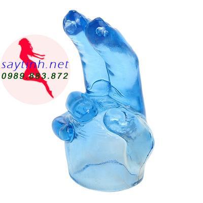 Đầu silicon gắn chày rung mô phỏng ngón tay