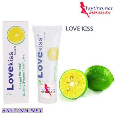 Gel bôi trơn tình dục hương chanh Love Kiss chính hãng