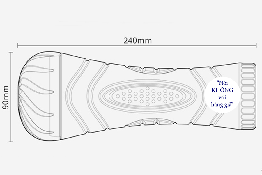 Hậu môn silicon đèn pin se khít rung nhiều chế độ
